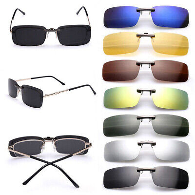 Polarized Sunglasses Clip On Driving Glasses Day Night Vision Lens Outdoor