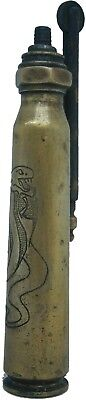 Soldiers CIGARETTE Lighter COBRA Snake TRENCH Art Made from SHELL Round CARTRIDG