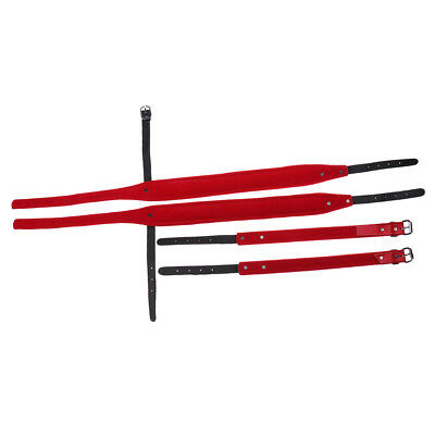 Durable Set 2 96/120 Bass Akkordeon Schultergurte DIY Rot 98 110cm
