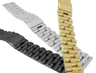 Wrist Watch Band 22mm Solid Stainless Steel, High Quality Construction 30114