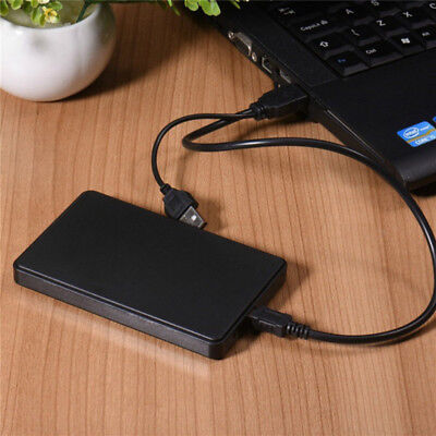 Tragbar USB3.0 Externe Festplatte PC Desktop Handy Hard Disk Drives Case Schwarz