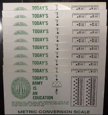 Lot of 10 Vintage 1979 Army Metric Conversion Scale Continuing Education System