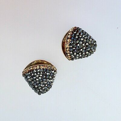 Marcasite,CZ super sparcling large indian bead caps, new, two in lot