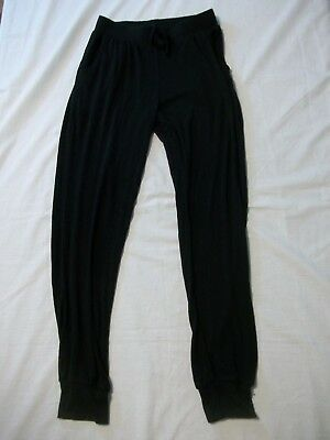 Total Girl Girl's Tights Pants Size M 10-12 elastic Waist Tie Solid Black New
