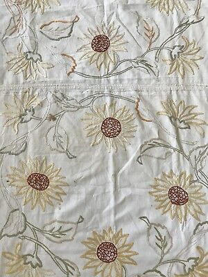 "Arts & Crafts Period 58"" x 37"" Hand Embroidered Tablecloth Runner"