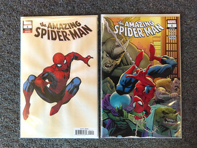 AMAZING SPIDER-MAN 1 A + B Cheung Variant Set 1st App New Villain Marvel 2018 NM