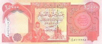 25000 New Iraqi Dinar 2003 Uncirculated Banknote Iqd-Certified!