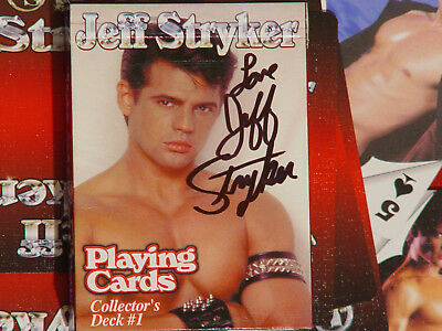 Jeff Stryker Playing cards Vol 1 (Red) artistic N udes included signed by Jeff .