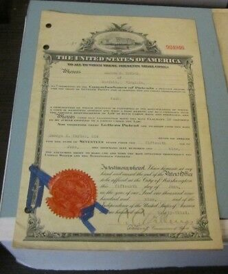1909 Official United States Signed Sealed Invention Patent Tags George Taylor