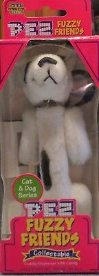 2002 PEZ CANDY Dispenser FUZZY FRIENDS RASCAL THE BULL TERRIER DOG NRFB new