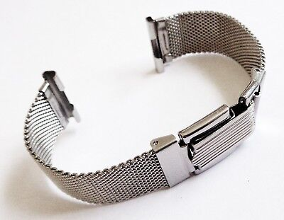 Vintage 20mm Stainless Steel New Old Stock Mesh expandable Watch Bracelet