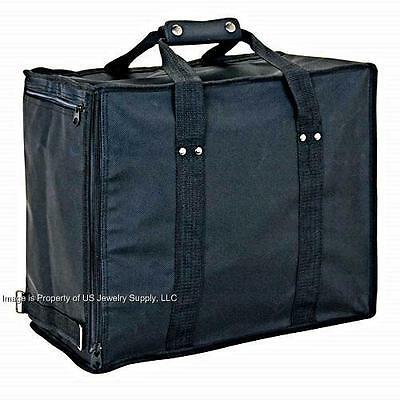 Premium Jewelry Travel Carrying Display Case With 12 Black Trays & 12 Black Pads