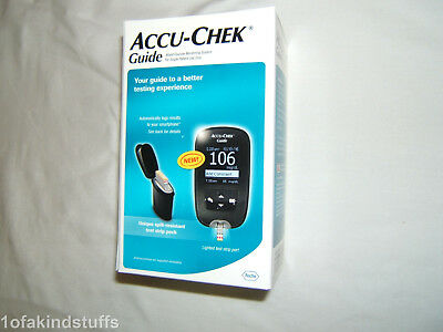 1 Brand New Sealed Accu Check Guide Blood Glucose Meter + 10 Strips Exp 1/2020!