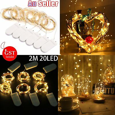 2-10M Battery Powered Copper Wire String Fairy Xmas Party Lights Warm White AU