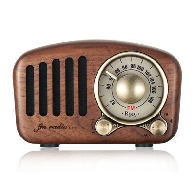 Portable Retro Radio AM FM SW + Bluetooth Speaker & TF Card Slot  Rechargeable