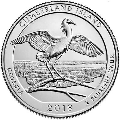 2018 - Cumberland Island National Seashore - Bu Quarters - 3 Coin Set Pds