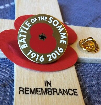 BATTLE OF THE Somme 1916 2016 Poppy Remembrance Lapel Pin