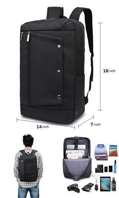Black Laptop Backpack College School Computer Backpack Fit up to 15.6 inch Lapto