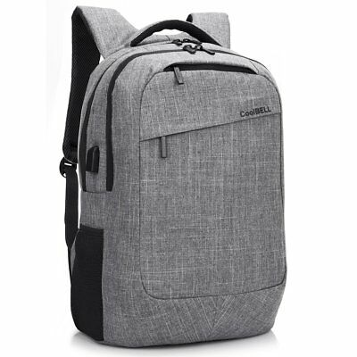 "17.3"" Laptop Backpack With USB Charging Port Multi-compartment Water-resistant"