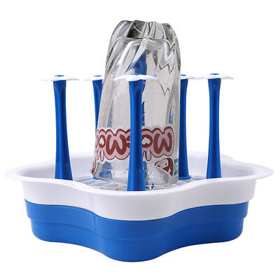 Deluxe Bottle Drying Rack Folds Flat For Dishwashers And Easy Storage 6A