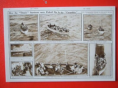 R M S Titanic Postcard -'survivors Pick Up By The Carphatia'