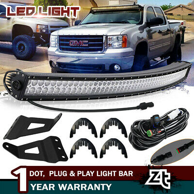 """00-06 Chevy Suburban Tahoe 50/"""" In 288W CURVED LED LIGHT BAR Mount Pod Combo Kit"""