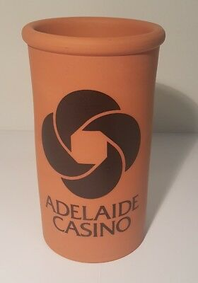 Adelaide Casino Terracotta Wine Cooler Older Logo Clare Valley Pottery Vintage