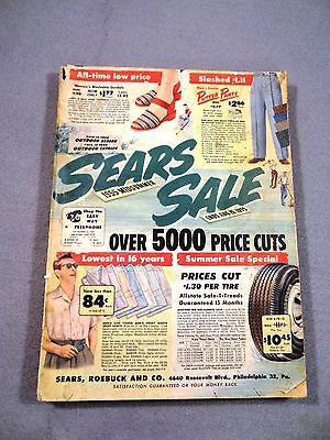Vintage SEARS Mail Order CATALOG 1955 MIDSUMMER Nice for CRAFTING!