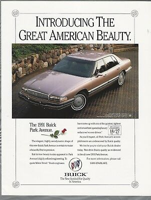 1991 BUICK PARK AVENUE advertisement, Buick ad, Park Avenue sedan