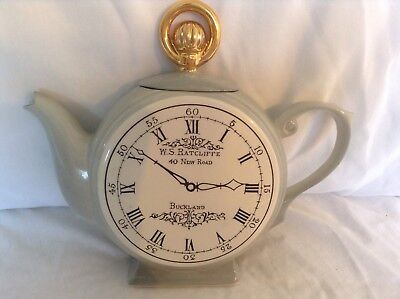 Teapottery Swineside Novelty Collectable Teapot Large Pocket Watch Grt Condtion