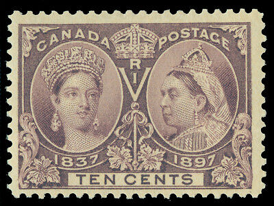 CANADA 1897  JUBILEE issue  10c violet  Scott # 57  mint MH VF