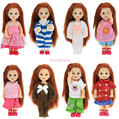 Handmade 6 Random Cute Kids Outfits Dress 1:12 Clothes For Barbie Kelly Doll Toy