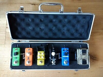 Mooer M6 case + Wah + Phaser + Slow Engine + Joyo Wild Boost + Donner pedals