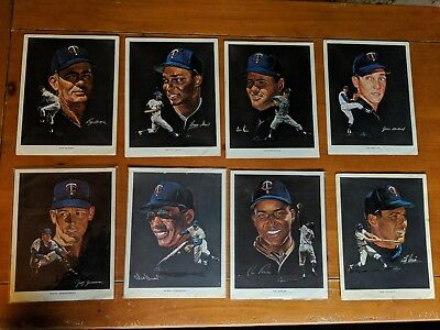 Lot of 8 1963 Minnesota Twins Western Oil and Fuel Co Nicholas Volpe Prints