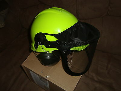 HiVis  Forester Woodsmen Chainsaw Safety Helmet+STIHL Tool { Read Description }