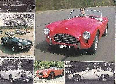 65 LOT Vintage AC Cars, Neat Variety of Magazine Clips with No COBRA