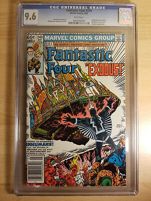 Fantastic Four 240 CGC 9.6 Inhumans John Byrne Quicksilver