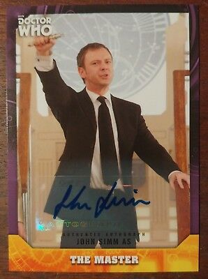 2017 Topps Doctor Who Signature Series Auto, John Simm as the Master, 03/10