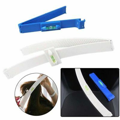 1Set/2pcs DIY Bangs Hair Leveling Cutting Clip Comb Hairstyle Trim Typing Tools
