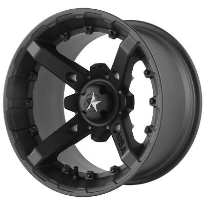Msa M23 Battle Atv Wheel Flat Black 14x7 10mm 4 137 M23 04737