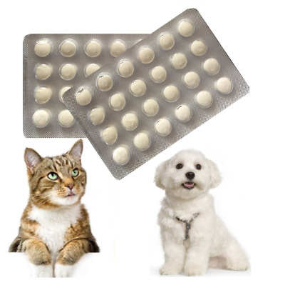 48 Tablets, Dog Wormer, Worming Tabs,Dewormer,Cat deworming,in English,Effective