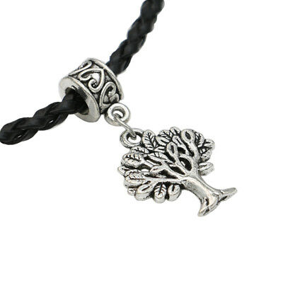 Antique Silver Tree of life Charm Beads for Bracelet Accessories DIY Handmade