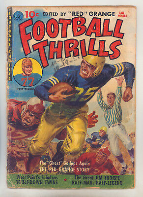 Football Thrills #1 FR Powell, Jim Thorpe, Red Grange Johnny Lujack Knute Rockne