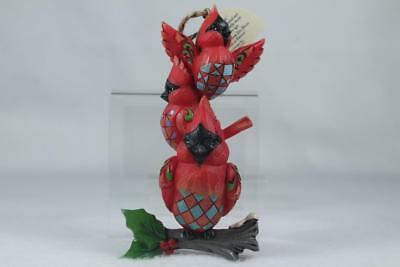 Jim Shore 'Stacked Cardinals Ornament' 2018 #6001517 New In Box!