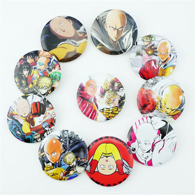 Anime ONE PUNCH MAN Badge Set of 10 Pcs Button Pins Brooch Collection Fans Gift