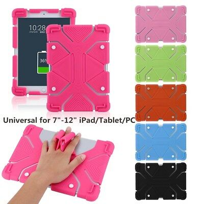 Universal Flexible Silicone Case Shockproof Cover Stand For 7-12inch Tablet PC C