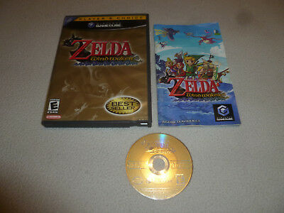 NINTENDO GAMECUBE GAME THE LEGEND OF ZELDA THE WIND WAKER COMPLETE W MANUAL Wii