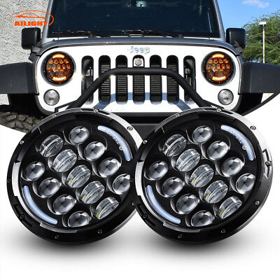 "Pair 7inch 78W 7"" CREE LED Headlight Replacement  For 2007-2018 JEEP JK Wrangler"