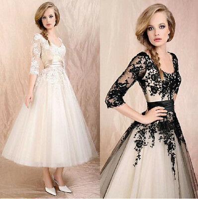 Womens Formal Evening Ball Gown Wedding Dress Lace Prom Cocktail Party Bridal