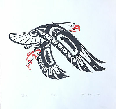 """Glen Rabena """"Eagle"""" Signed and Dated Limited Edition Serigraph"""